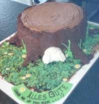Torte Hase Baumstamm