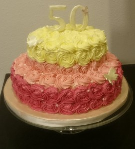 Rose swirl Torte