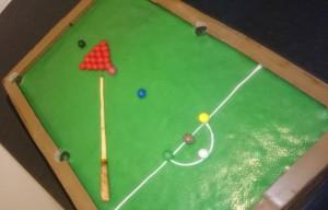 Snooker Billiard Tisch Torte Motivtorte