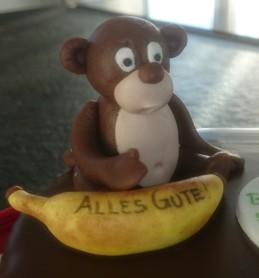 Affe Banane Fondant Torte