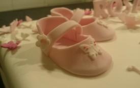 Taufe Mädchen Ballerinas Torte Motivtorte