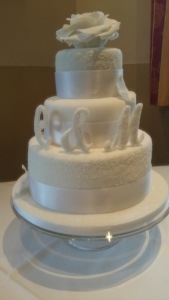 Hochzeitstorte Eis Effekt Wintertraum