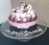 Torte Minnie Mouse Guglhupf Motivtorte