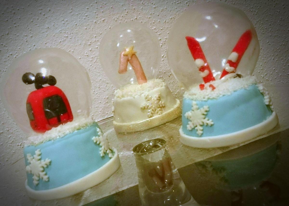 Schneekugeln - ja, es ist Kuchen
