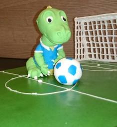 Dino Fußballfeld Motivtorte Torte Kindergeburtstag