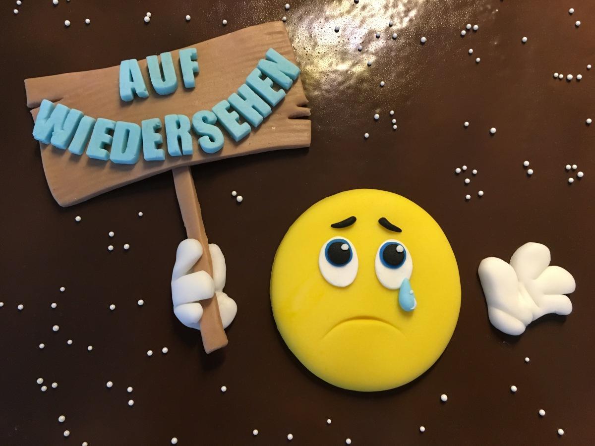 Emoji Kuchen zum Abschied