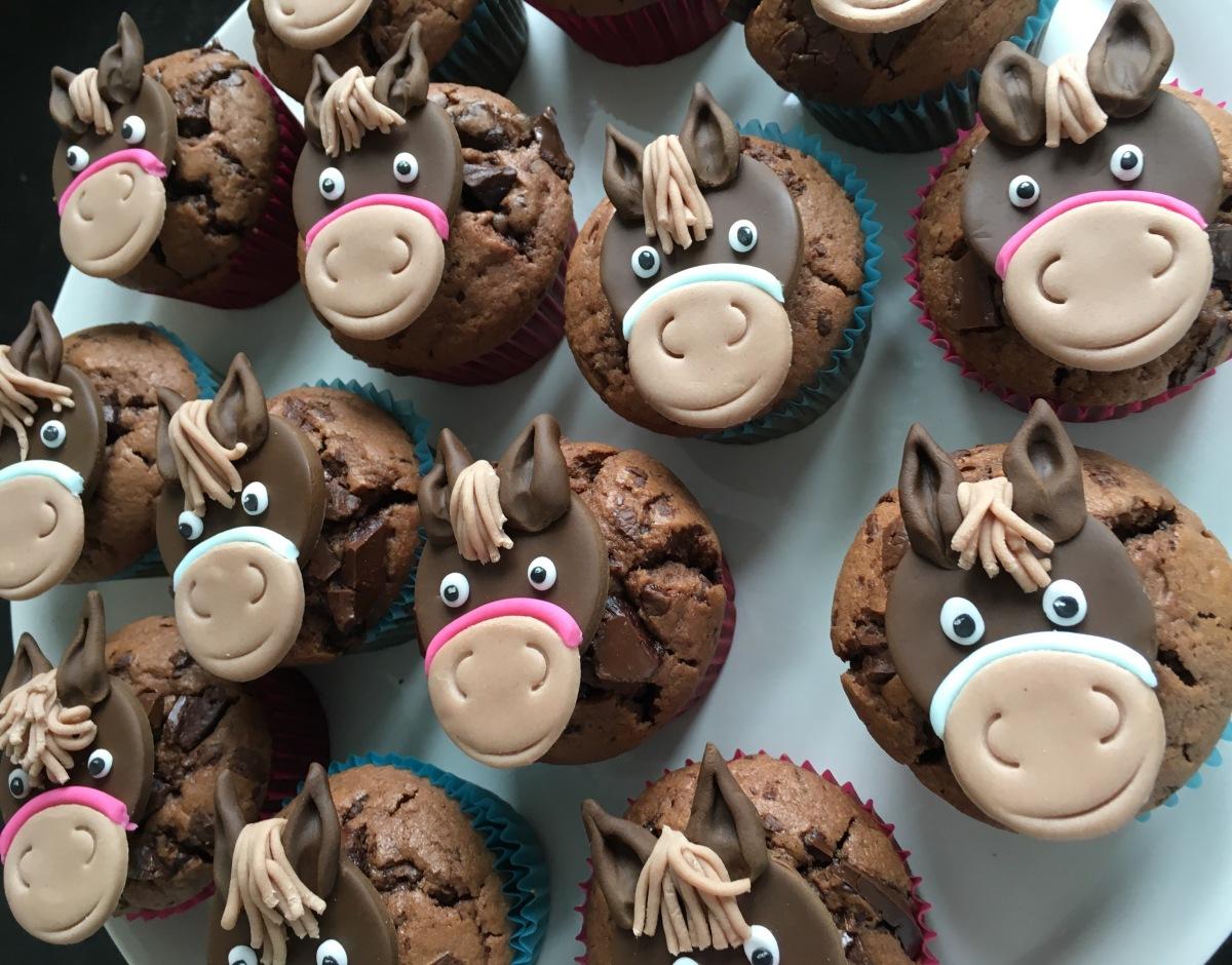 Pferdemuffins - das Tüpfelchen auf dem i bei der Pferdegeburtstagsparty