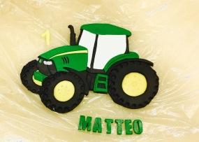 Traktor John Deere Fondant Torte Kuchen